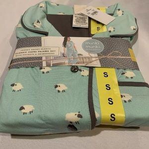 Munki Munki Women's Classic Capri Pajama Set, Sm
